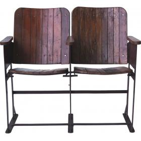 Old vintage cinema bench - 2 seats