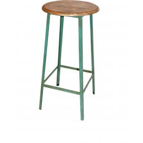 Lovely high iron stool  - green